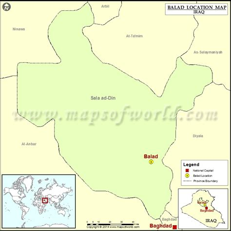 balad iraq map where is balad location of balad in iraq map