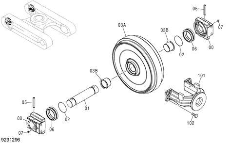 Sparepart Zx130 zx130 hcme front idler eu2 hitachi hop spare parts