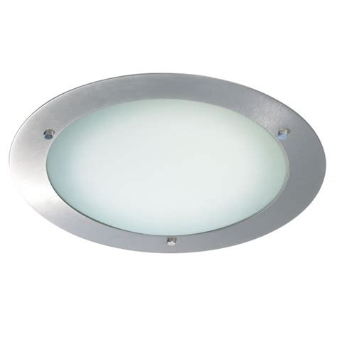 540 34bs bathroom flush ceiling light ip44 brushed