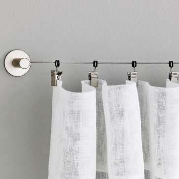 Hanging Curtains With Wire 27 Best Images About Wire Hanging System On