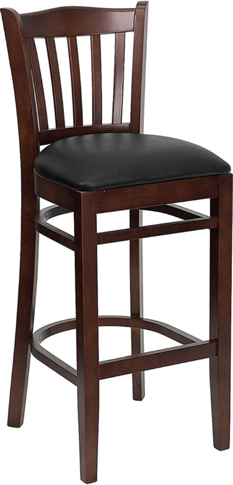 commercial wood bar stools hercules commercial mahogany wooden vertical slat crown