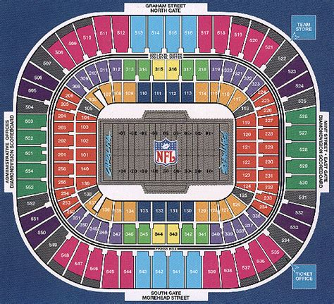 bank of america stadium seating bank of america stadium nc seating charts
