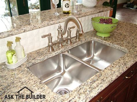 Kitchen Undermount Sink Undermount Kitchen Sink Needs Epoxy And Anchors Great Videoask The Builder