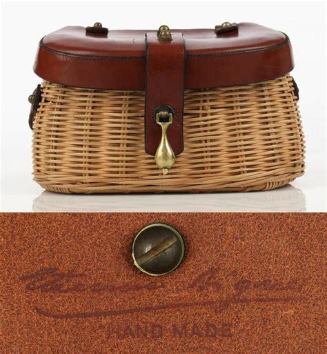 Tas Fasion Aigner Tote Bag etienne aigner c 1950 s handmade fishing creel wicker purse handbag at 1stdibs