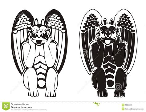 gargoyle clipart creepy pencil and gargoyle clipart black and white pencil and in color