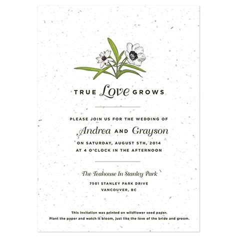 how to choose wedding invitation paper grows seed invitation plantable wedding invitations