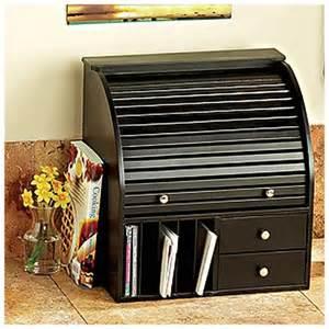 Cereal Box Desk Organizer Black Wood Rolltop Desk Organizer New Rakuten Com