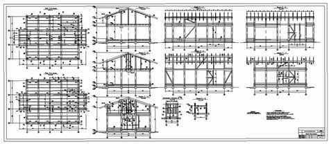 Half Timbered House Plans by Half Timbered Houses Plans Sections Elevations