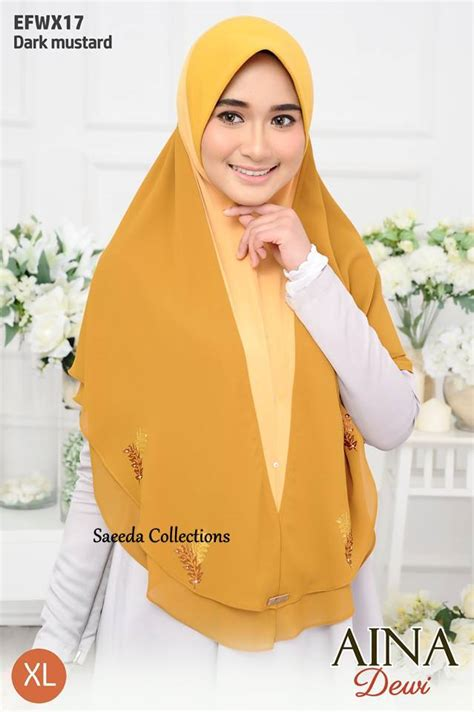 Dewi Layer tudung layer aina dewi saiz xl saeeda collections