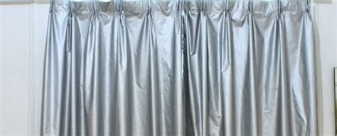 heat reflecting curtains windows what is the name of these silver curtains used
