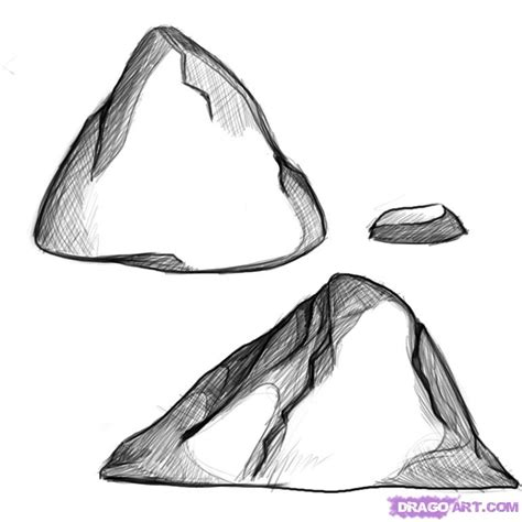 3d Drawing Online Free how to draw rocks step by step other landmarks amp places