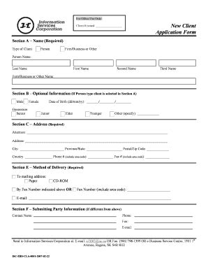 28 new client application form template new client