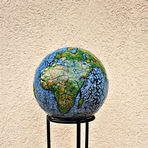 How To Make Paper Mache Sculptures - abstract papier mache globe sculpture paper earth