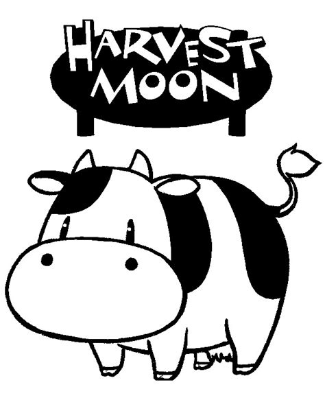 harvest moon coloring page coloring page harvest moon 10