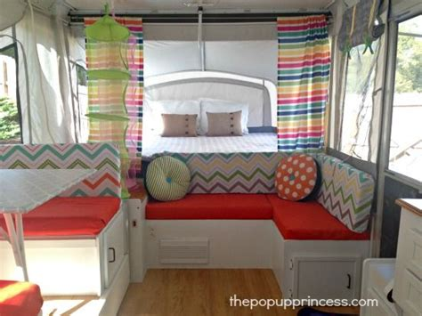 tent trailer curtains leigh s pop up cer makeover cer curtains and