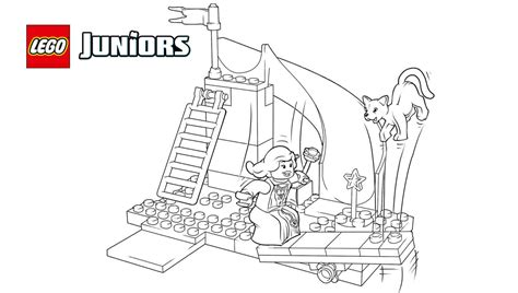 lego princess coloring pages lego 174 juniors princess playtime coloring page coloring