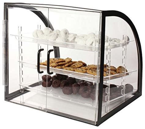 Countertop Bakery by Countertop Bakery Display Clear Acrylic With Black Metal Frame Rear Loading Doors And 3