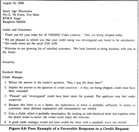 Credit Application Response Letter How To Write Fantastic Business Letters