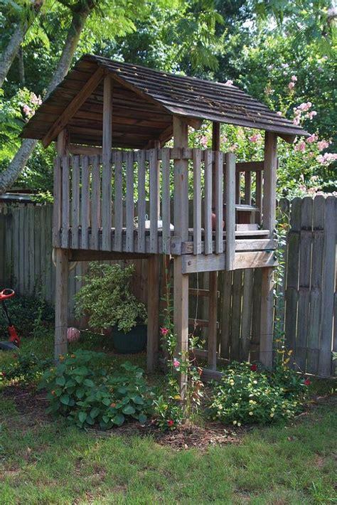 repurposing a playset repurposed forts and gardens
