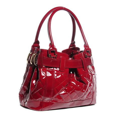 Burberry Quilted Patent Beaton Shopper by Burberry Patent Quilted Beaton Tote