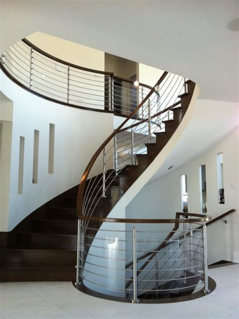 Stainless Steel Stairs Design Stainless Steel Staircase Railing Home Design Ideas Pictures Remodel And Decor