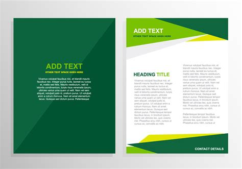 template design free vector green brochure template design 12824 my