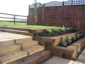 Raised Garden Beds Ideas - decoration paysagere traverses paysag 232 res en bois traverses de chemin de fer decoration
