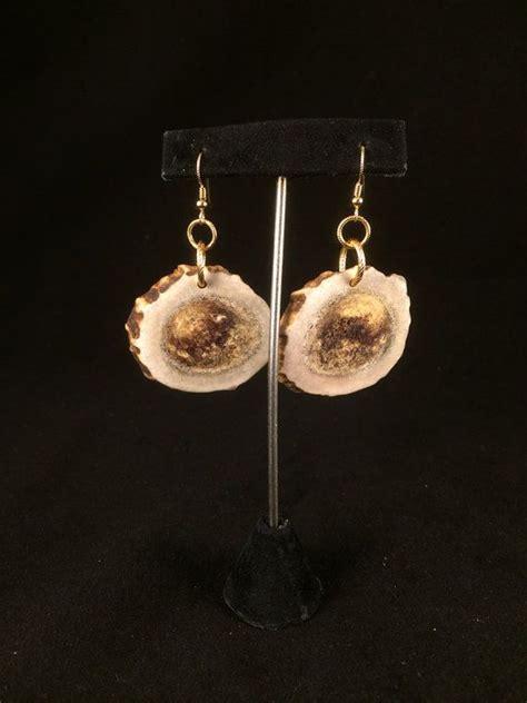handmade mule deer antler earrings
