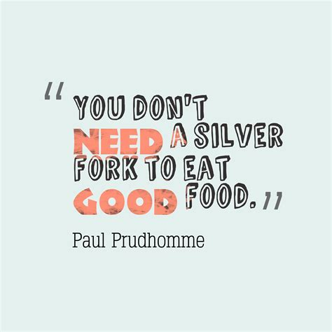 Food Is God Quote