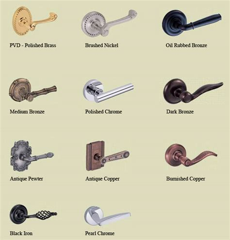 Door Hardware Finishes by Fusion Finish Colors Doorware