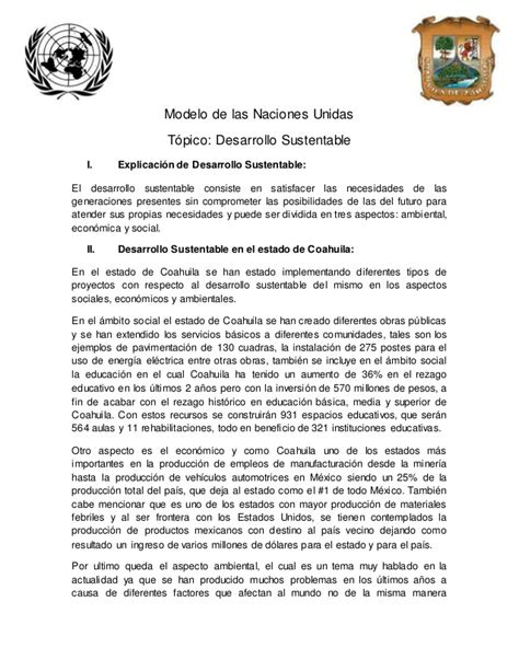 Modelo Curriculum Naciones Unidas modelo de las naciones unidas