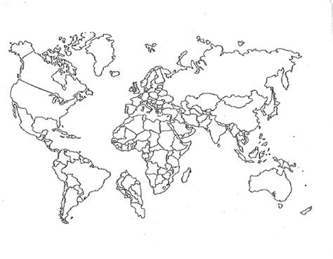 World Outline Drawing by Map Background Images