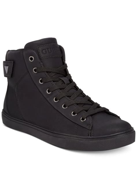 mens high top black sneakers guess guess s tulley high top sneakers s shoes