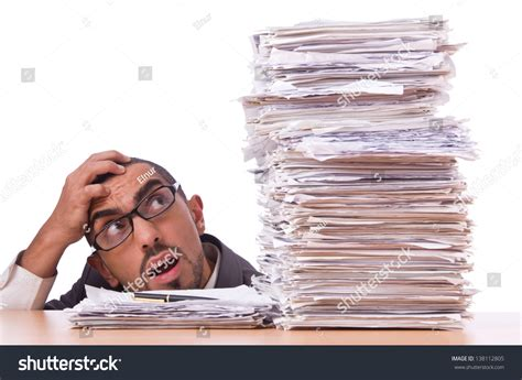 Busy Busy Doing Lots Of Writing Lots Of Shoppin by Busy Businessman With Lots Of Papers Stock Photo 138112805