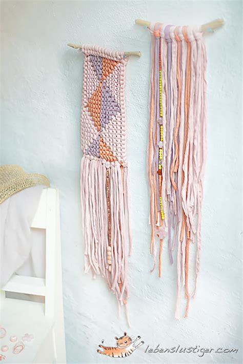Handmade Hangings - diy summer wall hangings handmade