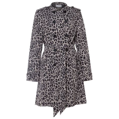 Found A Saucy Leopard Trench Coat by Damsel In A Dress Roaming Leopard Trench Coat Multi At