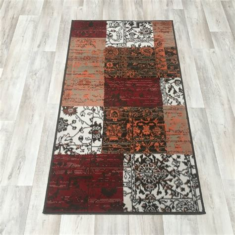 Patchwork Direct - orange patchwork wilton rug cheap rugs flooring direct