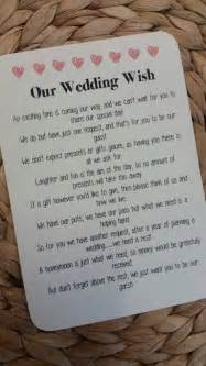 wedding gifts asking for money poems best 25 wedding gift poem ideas on