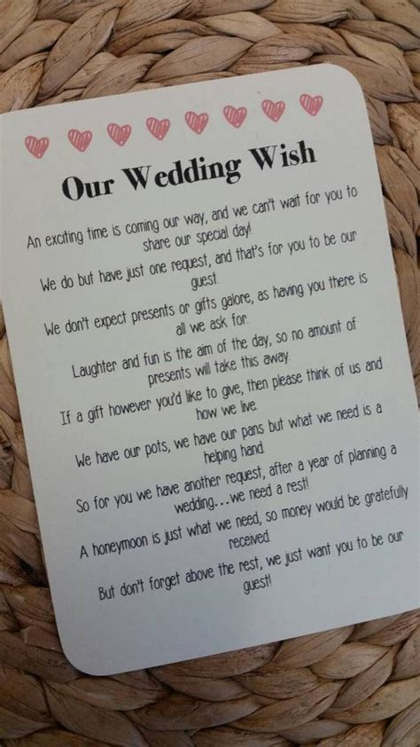 wedding money gift best 25 wedding gift poem ideas on