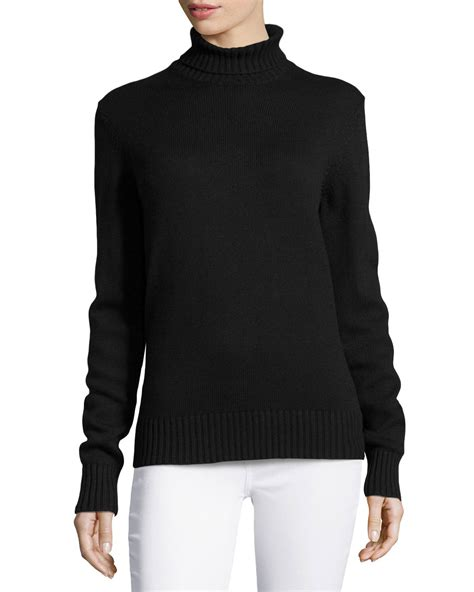 Michael Sweater Black Limited 1 michael kors sleeve ribbed sweater in black lyst