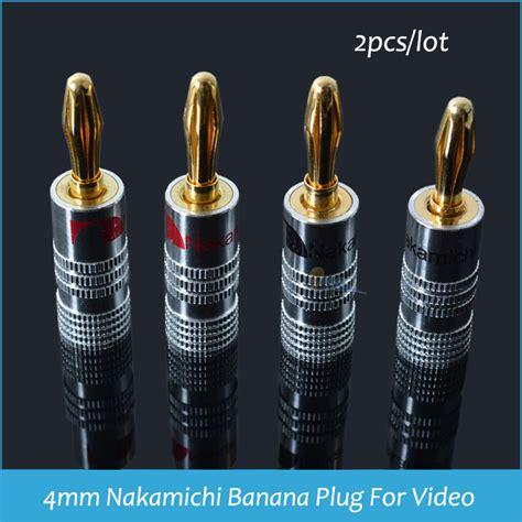 Copper Terminals For 4mm Banana sindax 4mm nakamichi banana for 24k speaker copper 4mm banana black banana