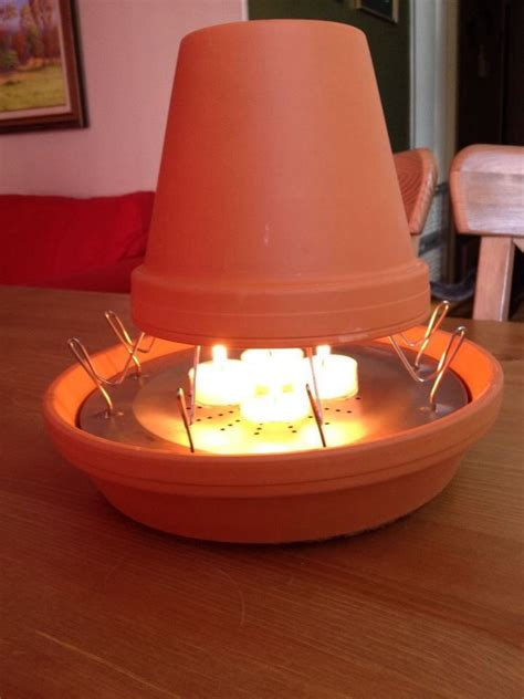 this is my version of a clay pot heater i saw other versions and they didn t seem very secure