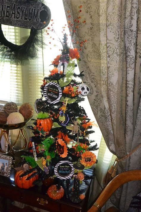 hometalk halloween christmas tree diy ornaments