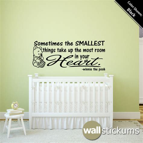 Nursery Wall Decal Quotes Nursery Wall Decal Winnie The Pooh Smallest By Wallstickums