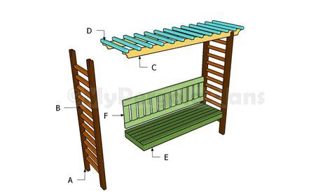 arbor bench plans arbor bench plans free pergola plans