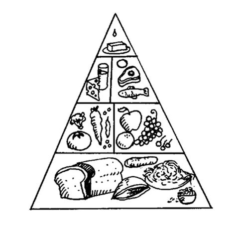 food pyramid coloring page picture of springtime coloring page print
