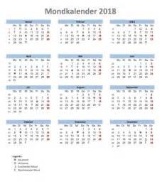 Kalender 2018 Schweiz Pdf Mondkalender 2018 Vorlage Muster Ch