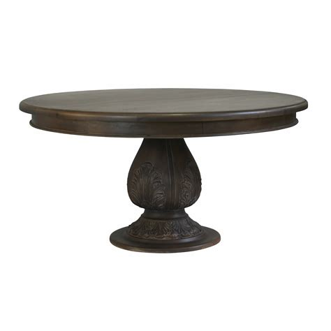 Dining Table Pedestal Pedestal Acorn Dining Table