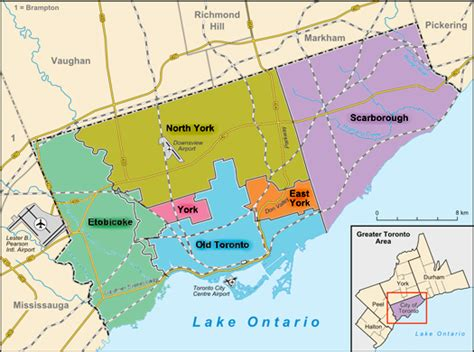 reliable index image map of toronto canada and