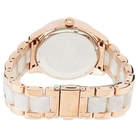 Guess Gs0257 Rosegold White new guess for white marble like gold tone u0074l2 ebay
